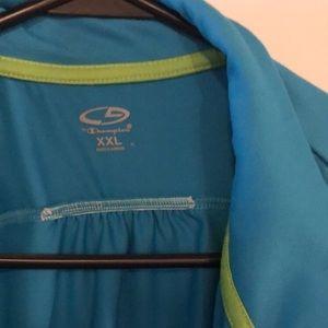 Bright blue Champion C9 full zip top